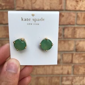Kate Spade Green and Gold Stud Earrings